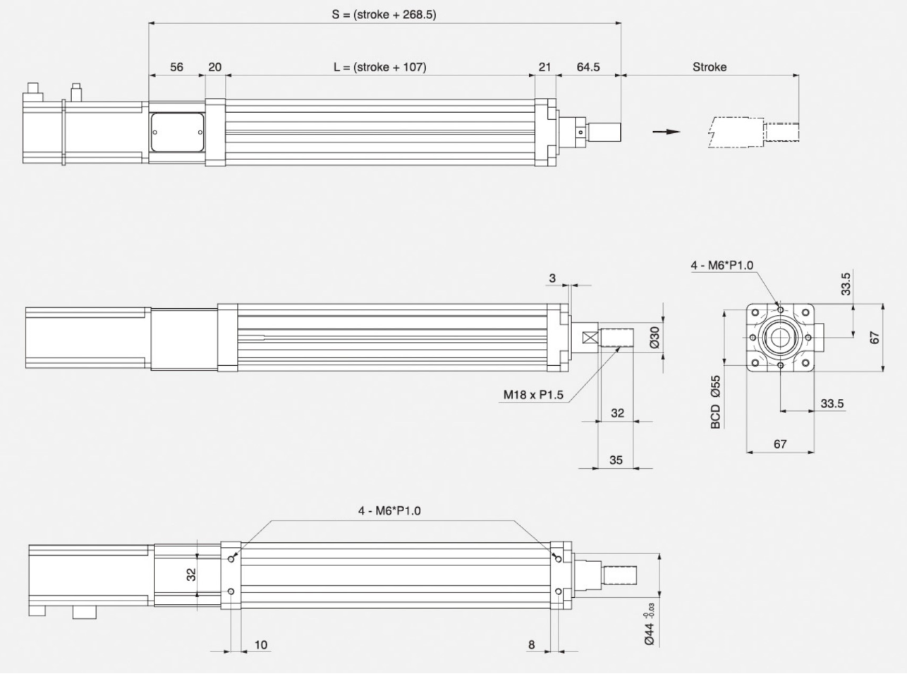 Insert Specification_Motor Installation Method _ Dimension_Direct Type
