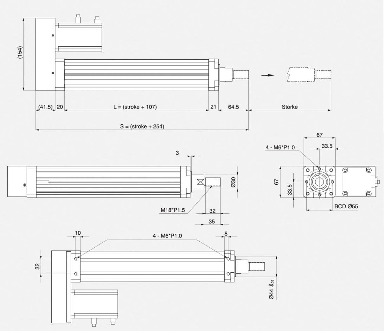 Insert Specification_Motor Installation Method _ Dimension_Left Type