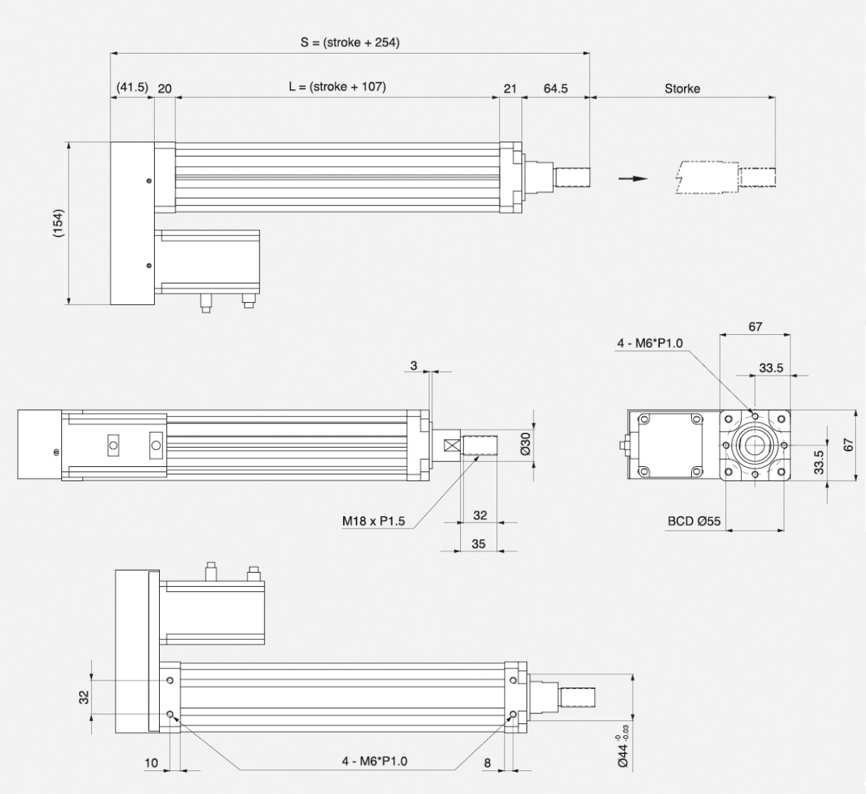 Insert Specification_Motor Installation Method _ Dimension_Right Type